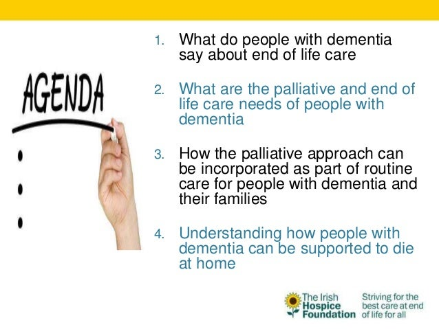 Dementia end of life care guidelines
