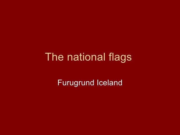 The national flags  Furugrund Iceland