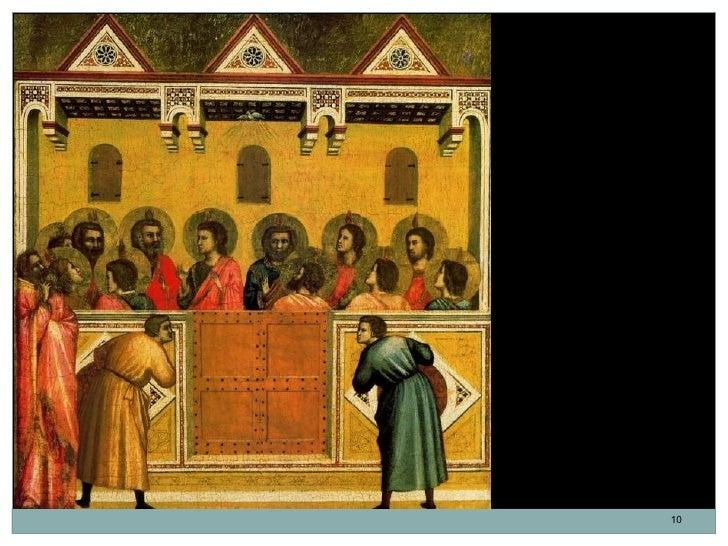 Pentecostés.Giotto di Bondone.Temple sobre tabla.45,5 x 44 cm. 1306-1312.Italia. Escuela de Florencia.                    ...