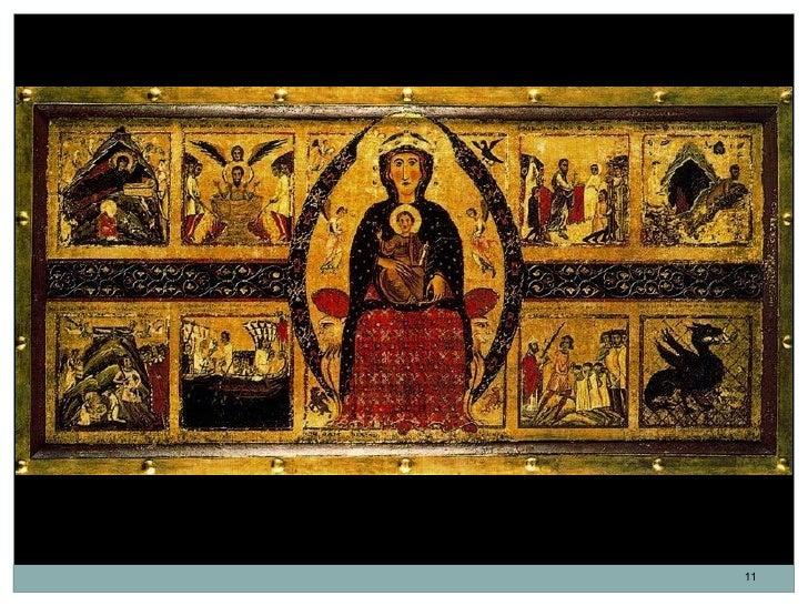 Frontal de la Virgen con el Niño. Margaritone dArezzo. Italia. Escuela de Florencia.                                      ...