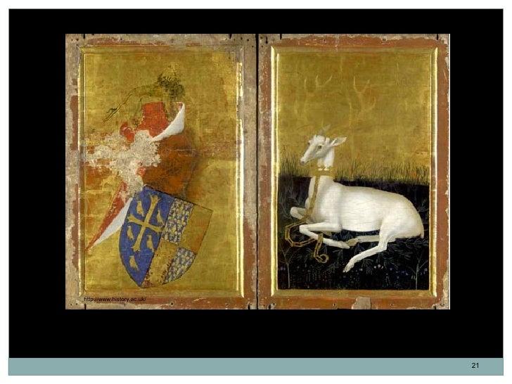 http://www.history.ac.uk/Cuando está cerrado, el díptico muestra el escudo de armas de Ricardo y su emblema    personal, u...