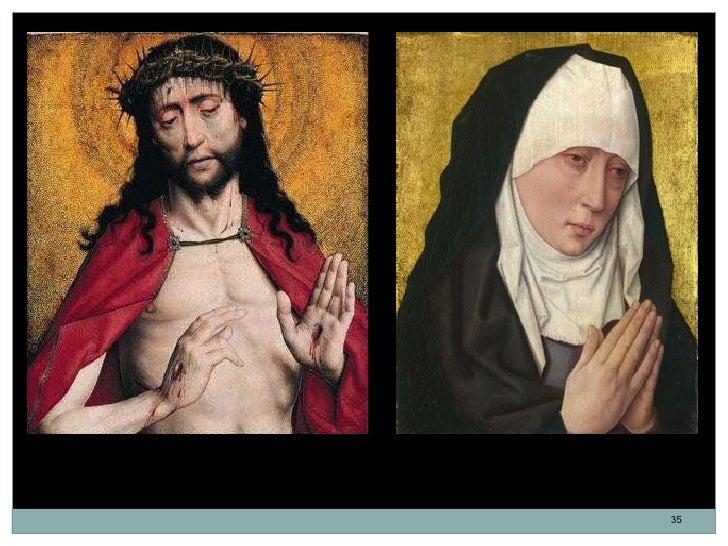 Cristo coronado de espinas. Dirk Bouts.   Mater Dolorosa. Dirk Bouts. Óleo.       Óleo. 43,8 x 37,1 cm. 1470.           36...