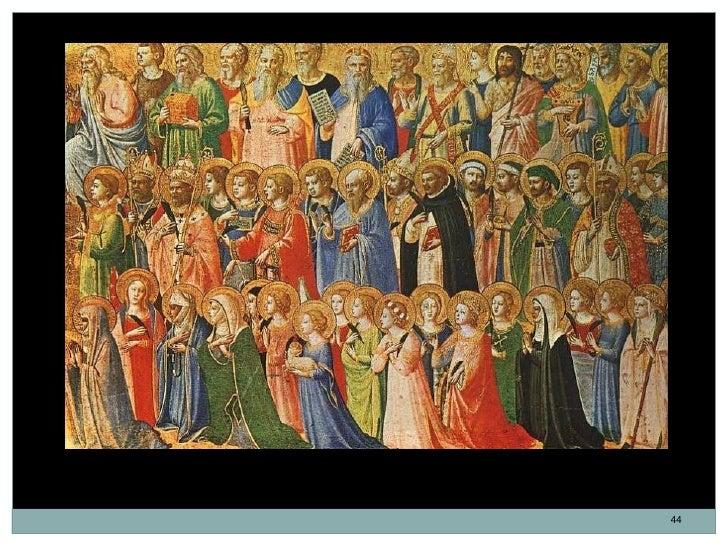 Los Precursores de Cristo con santos y mártires. Fra Angélico.       Temple sobre tabla. 31,9 x 63,5 cm. 1423-1424.       ...