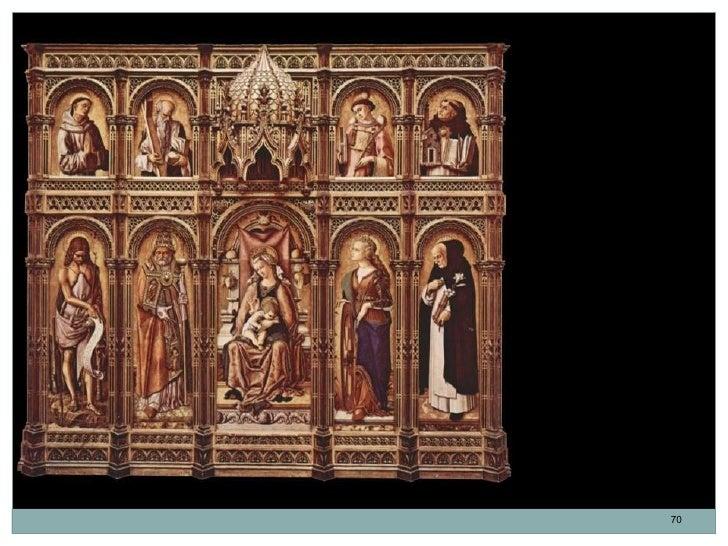 El Retablo Demidoff.Políptico de SantoDomingo de Ascoli.Carlo Crivelli. 1476.                        70