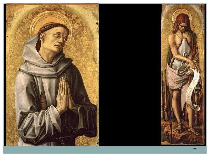 San Francisco y San Juan Bautista. Carlo Crivelli.  Detalles del Retablo       Demidoff.                             72