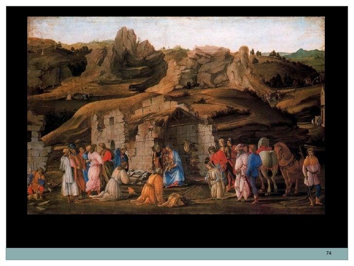 La adoración de los Reyes. Filippino Lippi. Óleo sobre madera. 57 x 86 cm. 1480.                                          ...