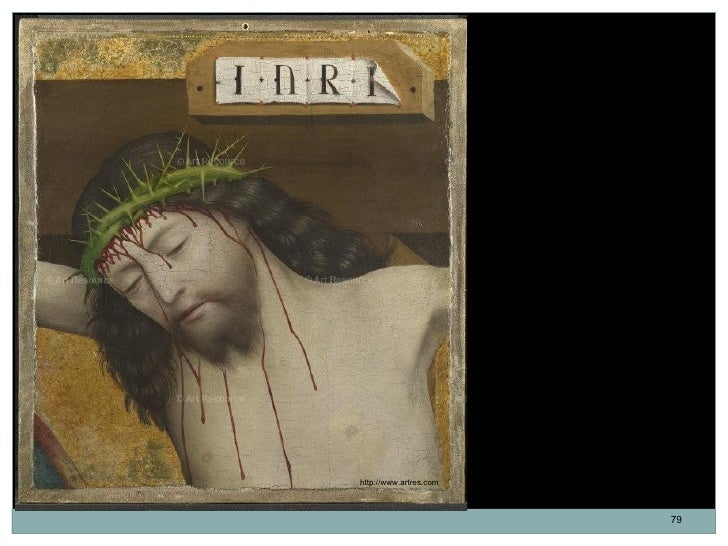 Cabeza de Cristo crucificado.                        Óleo sobre tabla.                        32,7 x 29,8 cm. 1470-1480.  ...