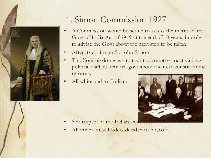 Brief Note on Simon Commission
