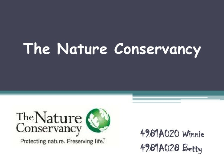 The Nature Conservancy<br />4981A020 Winnie<br />4981A028 Betty<br />