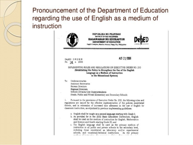 chabacano as medium of teaching Meanwhile, deped region 9 director walter albos listed cebuano, chabacano,  tausug and maranao as the medium of instruction for.