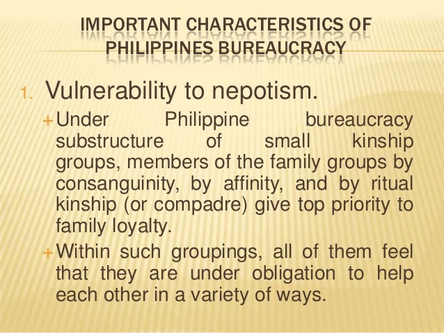 reaction about philippine bureaucracy The result is a mismanaged philippine state that failed in most of its  the  reaction under aquino iii was to reconsolidate elite consensus.