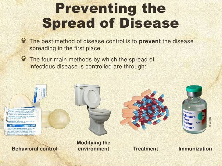 ways of preventing infectious diseases