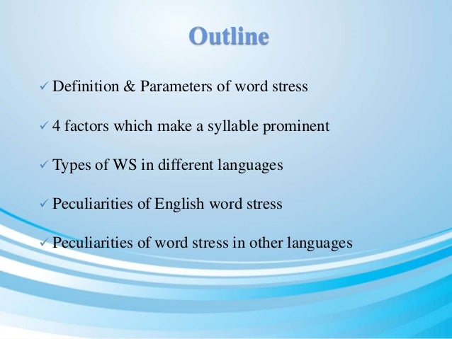 The nature of english word stress Slide 2