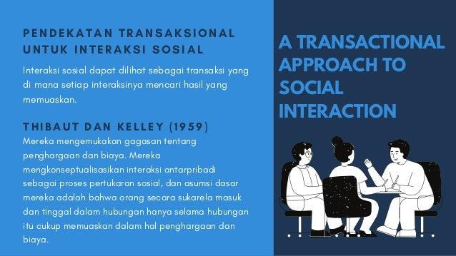 A TRANSACTIONAL APPROACH TO SOCIAL INTERACTION PENDEKA T A N T R A NSA K SI O NA L UNTUK INT ER A KSI SO SI A L Interaksi ...