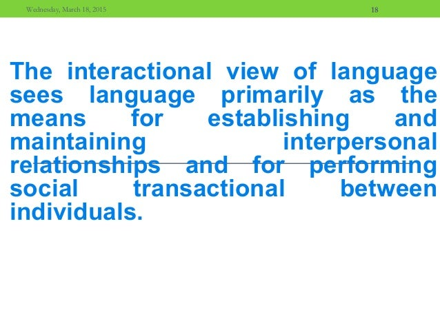 interactional nature of learning The nature of learning  learning environment is founded on the social nature  that we learn through social interaction ± the organisation of learning.