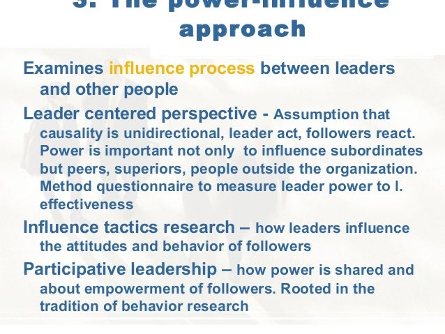 power and influence in leadership