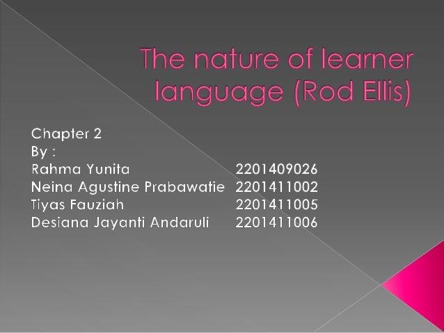  Errors  and error analysis   Developmental   Variability  Summary  patterns  in learner language