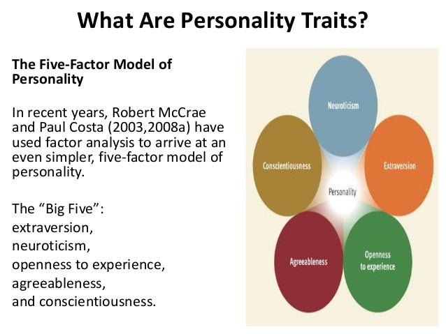 personality big five model solved case Using the big five personality factors, describe the personality of (a) a close family member and ( b ) a person for whom you have worked how do these factors affect your behavior toward them  describe your perception of a close friend using big five model personality factors.