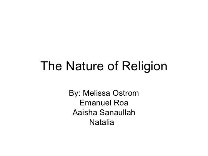 understanding the nature of religion