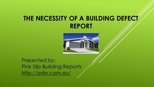 how to write a building defects report