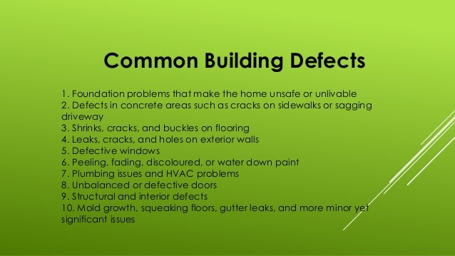 The Necessity Of A Building Defect Report