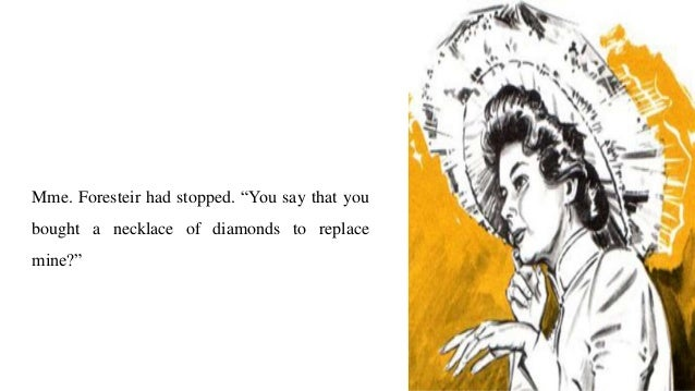setting of the diamond necklace by guy de maupassant