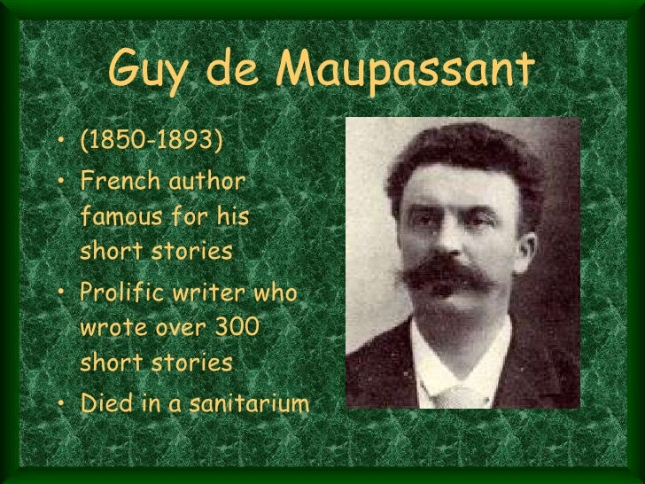 the necklace powerpoint presentation guy de maupassant