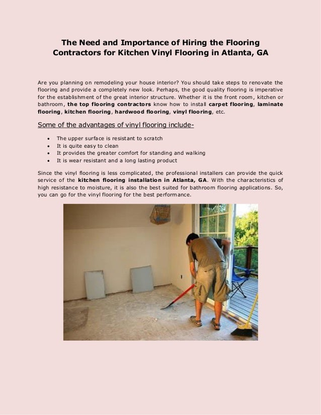The Need And Importance Of Hiring The Flooring Contractors For Kitche