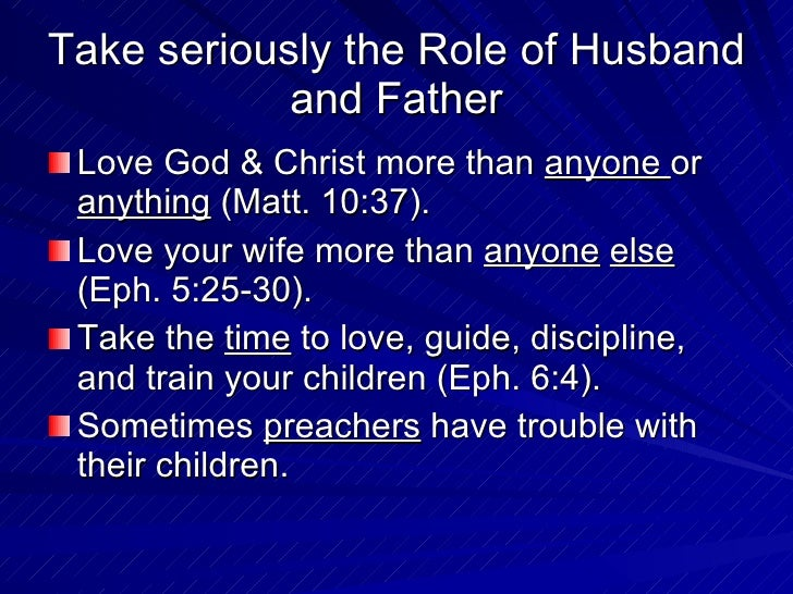 role of a christian husband