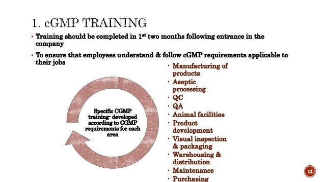 The need for continual training program as a part of cGMP in