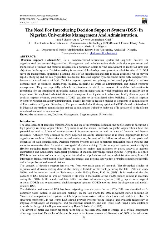 Information and Knowledge Management ISSN 2224-5758 (Paper) ISSN 2224-896X (Online) Vol.3, No.10, 2013  www.iiste.org  The...
