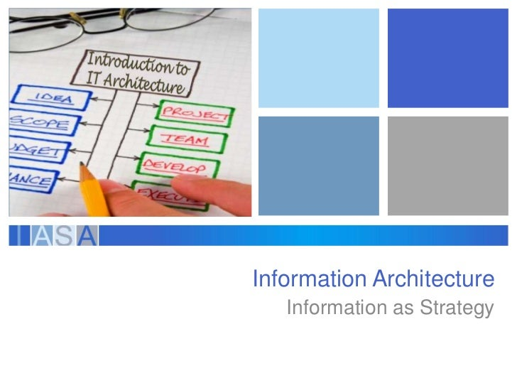 Information Architecture   Information as Strategy
