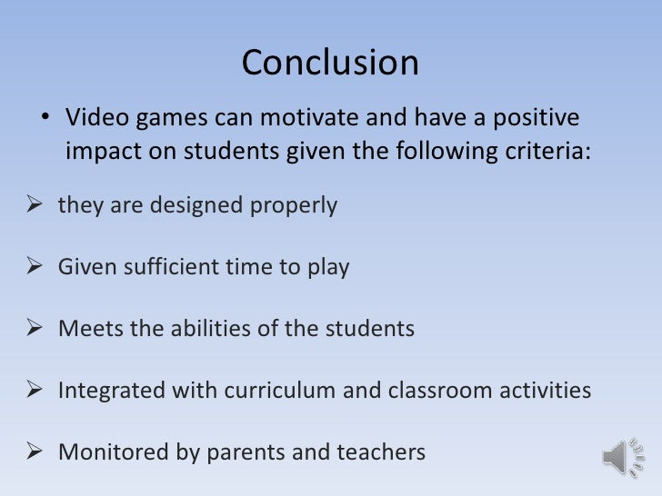 Video games research paper