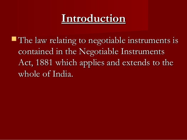 UCC Article 3, Negotiable Instruments (1990) Summary