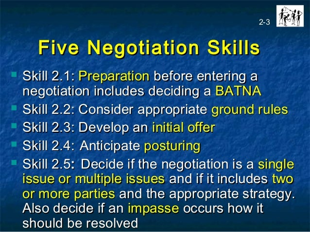 stages of negotiation skills