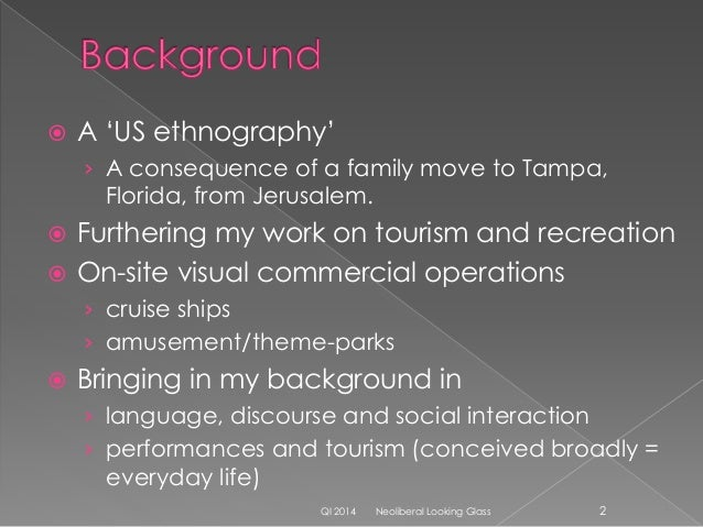  Ethnography as a primarily observational method of inquiry - allows up-close and nuanced recording of richness of human ...