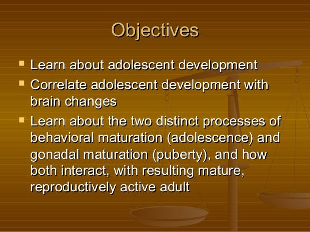 The Neurobiology of Adolescent Development Slide 2