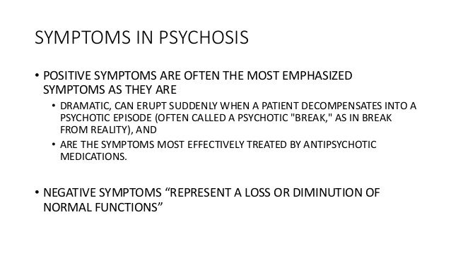 The Neurobiology Of Psychosis And The Role Of Antipsychotics