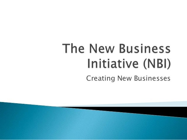 Creating New Businesses