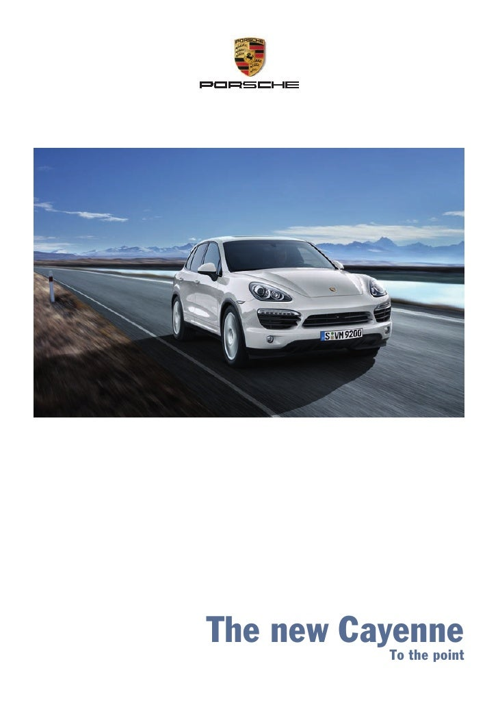The new Cayenne           To the point