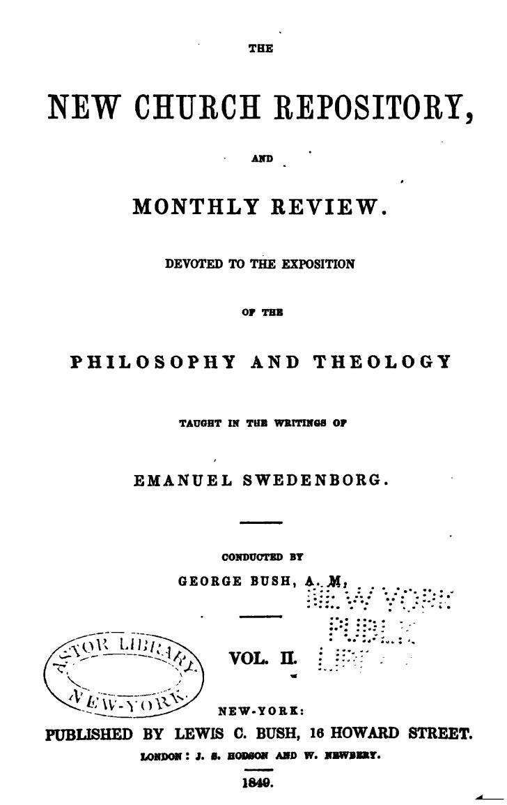 THENEW CHURCH REPOSITORY,                             AKD         MONTHLY REVIEW.             DEVOTED TO THE EXPOSITION  P...