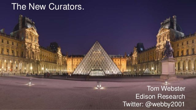 The New Curators. Tom Webster Edison Research Twitter: @webby2001