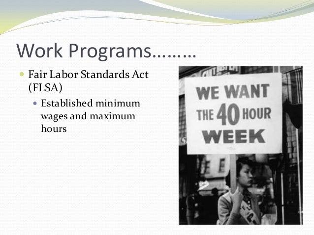 the fair labor standards act concerning child labor The pennsylvania child labor act requires all minors 14 through 17 to have a work permit in order to be employed a 17 year old who has dropped out of a: the us department of labor has ruled that home schooling is not grounds for an exception to the federal fair labor standards act (flsa) and.