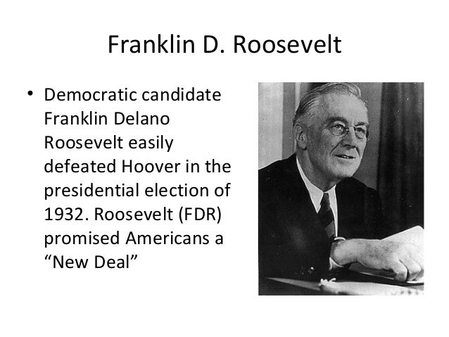 the new deal and franklin roosevelt President franklin d roosevelt's new deal was revolutionary in changing the economic climate in the 1930's, without it the depression would have lasted a great deal longer.