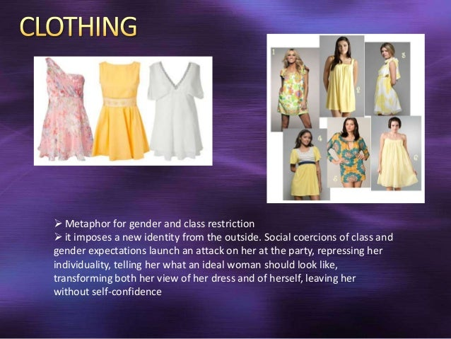 the new dress symbolism The new dress is a short story by the english author virginia woolf it was  written in 1924 whilst woolf was writing mrs dalloway it is possible that it was.