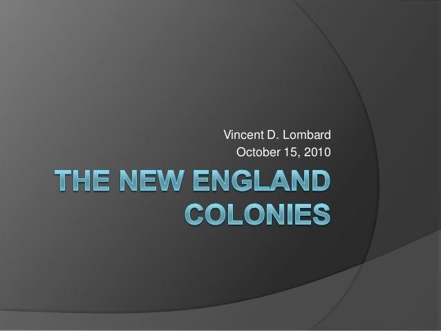 Vincent D. Lombard  October 15, 2010