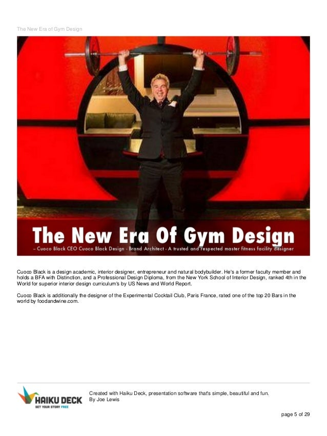 The new era of gym design for New york school of interior design ranking