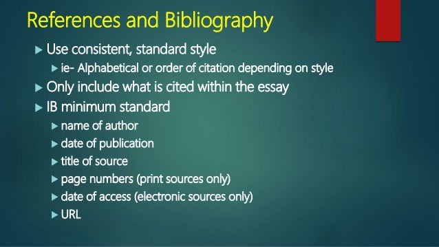 extended essay bibliography format