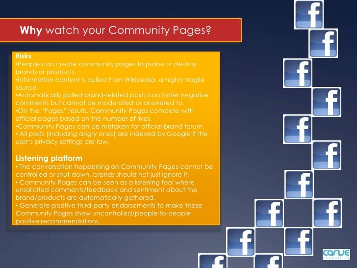 A customizable selection of your web pages/articles/content items is transparently interconnected with the Facebook comm...