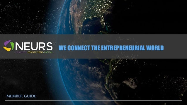 WE CONNECT THE ENTREPRENEURIAL WORLD  MEMBER GUIDE